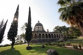 foto of beatitudes  - The Church Of The Beatitudes was built on a hill overlooking the Sea of Galilee and is the accepted site where Jesus preached the Sermon on the Mount - JPG