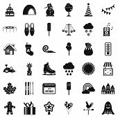Nice Party Icons Set. Simple Style Of 36 Nice Party Icons For Web Isolated On White Background poster