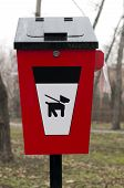 pic of feces  - Red Trash for dog feces  - JPG