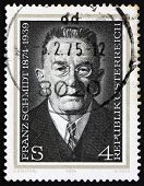 Postage stamp Austria 1974 Franz Schmidt, Composer, Cellist and