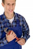 Plumber With Pipe Wrench
