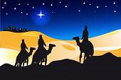 picture of desert christmas  - an illustration for christmas day - JPG