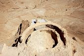 image of masada  - Ruins of ancient Masada fortress in Israel - JPG