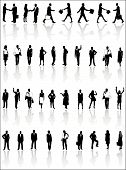 stock photo of person silhouette  - Illustration of people silhouettes men women and children - JPG