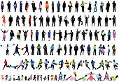 picture of person silhouette  - Illustration of people silhouettes men women and children - JPG