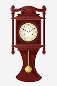 stock photo of pendulum clock  - vector illustration of wall clock with pendulum - JPG