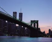 Bridge In New York City poster