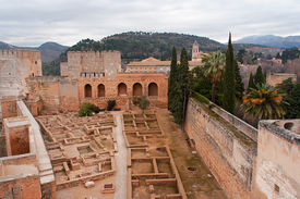 foto of sult  - The alcazaba in Granada constitutes the oldest portion of the Alhambra palace - JPG