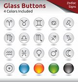 stock photo of libido  - Glass Buttons for Web Usage Signs of the Zodiac 4 Color Variations Included - JPG