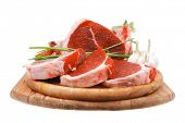 stock photo of lamb chops  - fresh meat  - JPG