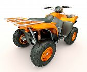 image of four-wheeler  - Sports quad bike on a light background - JPG