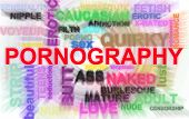 image of pornography  - Pornography related words in illustration blur abstract - JPG
