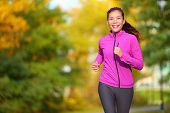 picture of foliage  - Female jogger - JPG