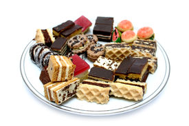 picture of sweet food  - various sweets on plate - JPG