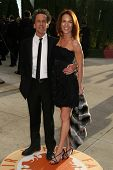 Brian Grazer and wife Gigi at the 2007 Vanity Fair Oscar Party. Mortons, West Hollywood, CA. 02-25-0