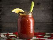 Bloody Mary In Mason Jar