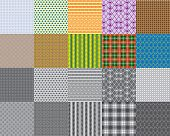 Set of 10 seamless patterns - Illustration