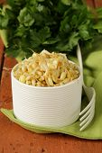 picture of soybean sprouts  - salad of sprouted mung beans in a white bowl - JPG