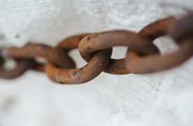 picture of slavery  - abstract metal thick chain - JPG