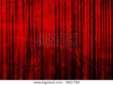 Постер, плакат: Кино или театр занавес, холст на подрамнике