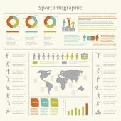 foto of lint  - Infografic athletics sport achievements development and competitions winners statistics presentation diagrams layout template design vector illustration - JPG