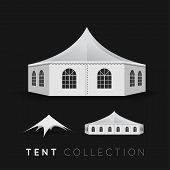 stock photo of tent  - Set of tents - JPG