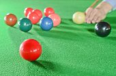 picture of snooker  - Snooker Player With Ball On The Table - JPG