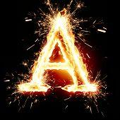 image of alphabet letters  - sparkling font - JPG