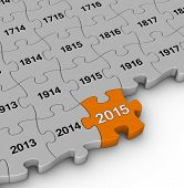 picture of pass-time  - 2015 year time passing jigsaw puzzle - JPG