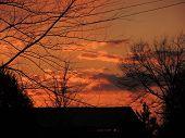 foto of mural  - Beautiful shots of the sun setting - JPG