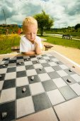 stock photo of draught-board  - Draughts board game - JPG
