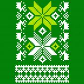 image of knitwear  - Scandinavian ornament for use in the clothing industry - JPG