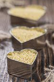 image of millet  - Millet (detailed close-up shot) on dark wooden background