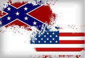 stock photo of civil war flags  - Confederate flag vs - JPG