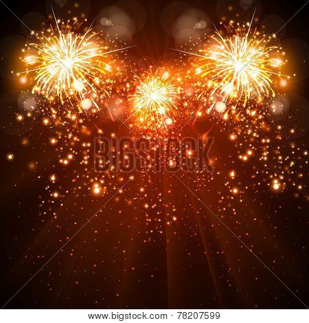 happy new year celebration background fireworks easy all editable poster id 78207599