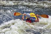 picture of rough-water  - Kayak on rough water - JPG