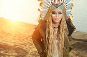 picture of headdress  - Close - JPG