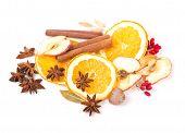 stock photo of christmas spices  - Christmas frame - JPG