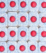 image of dishwasher  - Dishwasher tablets close - JPG