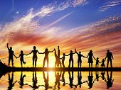 foto of reflection  - Happy group of diverse people - JPG
