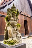 image of guardian  - Guardian statue in Baan Dam Temple, Chiang Rai, Thailand ** Note: Soft Focus at 100%, best at smaller sizes - JPG