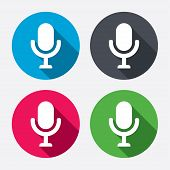 stock photo of speaker  - Microphone icon - JPG