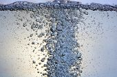 image of h20  - many little bubbles in a water close up