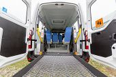 picture of crippled  - Minibus for physically disabled people from the outside - JPG