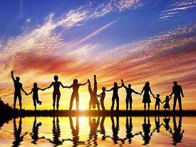 image of children group  - Happy group of diverse people - JPG