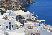 picture of canopy roof  - The architecture of the village of Ia in Santorini Greece - JPG