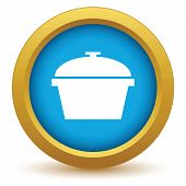 foto of gold panning  - Gold pan icon on a white background - JPG