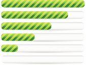 stock photo of gage  - Progress loading bars with striped texture - JPG