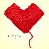 stock photo of i love you mom  - closeup of a heart - JPG