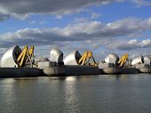 image of safety barrier  - The Thames Barrier London - JPG